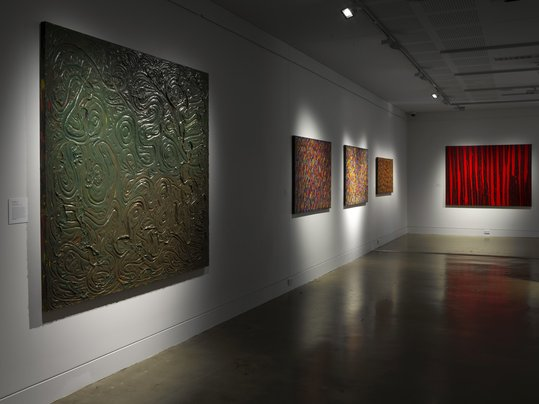 Installation view of 'Growing up on the Island'