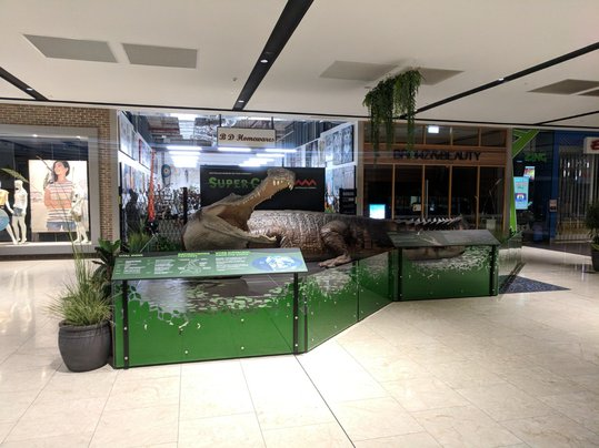 SuperCroc on display at Gateway Shopping Centre, Darwin, NT