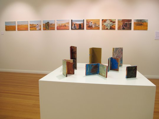Installation image-Transit (artist books and Ashara)