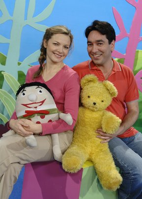 Justine Clarke and Alex Papps