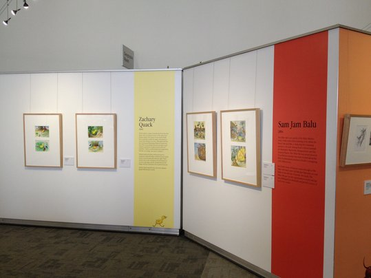 Installation image at the State Library of WA, Perth, 2015.